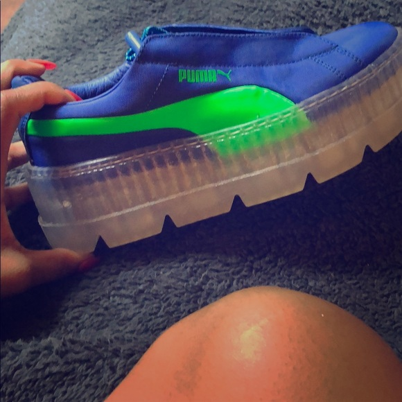 the best attitude 4304c 8c41b Cleated creeper surf blue and green